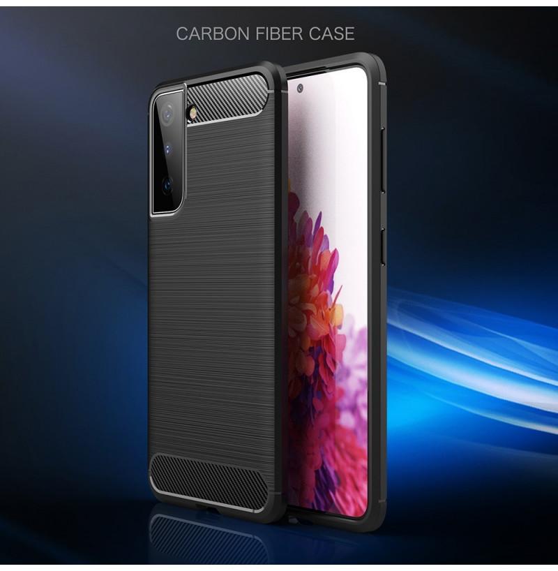 21523 - MadPhone Carbon силиконов кейс за Samsung Galaxy S21+ Plus