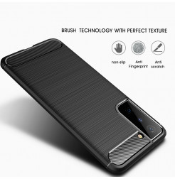 21524 - MadPhone Carbon силиконов кейс за Samsung Galaxy S21+ Plus