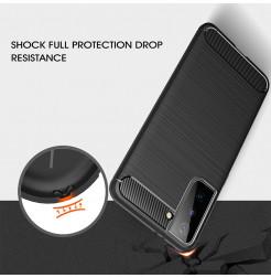 21525 - MadPhone Carbon силиконов кейс за Samsung Galaxy S21+ Plus