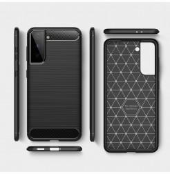21527 - MadPhone Carbon силиконов кейс за Samsung Galaxy S21+ Plus