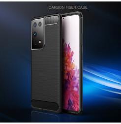 21609 - MadPhone Carbon силиконов кейс за Samsung Galaxy S21 Ultra