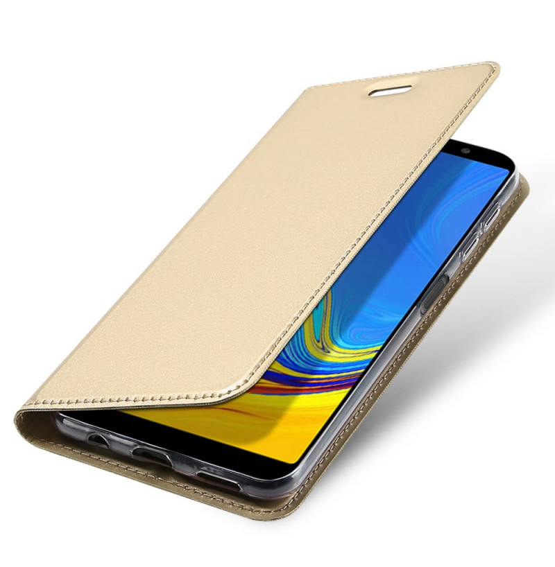 2280 - Dux Ducis Skin кожен калъф за Samsung Galaxy A7 (2018)