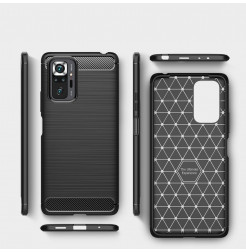 23291 - MadPhone Carbon силиконов кейс за Xiaomi Redmi Note 10 Pro