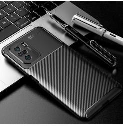 23518 - iPaky Carbon силиконов кейс калъф за Xiaomi Poco F3