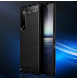 24249 - MadPhone Carbon силиконов кейс за Sony Xperia 1 III