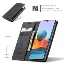 24665 - CaseMe премиум кожен калъф за Xiaomi Redmi Note 10 Pro
