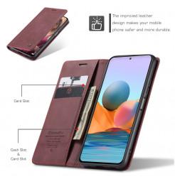 24677 - CaseMe премиум кожен калъф за Xiaomi Redmi Note 10 Pro