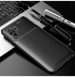 24795 - iPaky Carbon силиконов кейс калъф за Xiaomi Redmi Note 10 / Note 10S