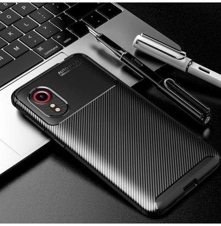 24981 - iPaky Carbon силиконов кейс калъф за Samsung Galaxy Xcover 5