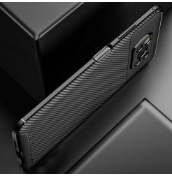 24987 - iPaky Carbon силиконов кейс калъф за Xiaomi Poco X3 NFC / X3 Pro