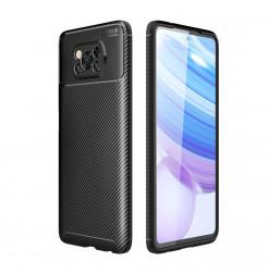 24988 - iPaky Carbon силиконов кейс калъф за Xiaomi Poco X3 NFC / X3 Pro