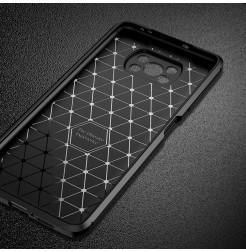 24989 - iPaky Carbon силиконов кейс калъф за Xiaomi Poco X3 NFC / X3 Pro