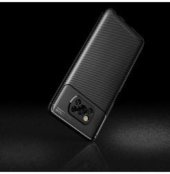 24990 - iPaky Carbon силиконов кейс калъф за Xiaomi Poco X3 NFC / X3 Pro