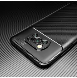 24991 - iPaky Carbon силиконов кейс калъф за Xiaomi Poco X3 NFC / X3 Pro