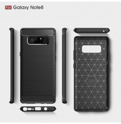 2750 - MadPhone Carbon силиконов кейс за Samsung Galaxy Note 8
