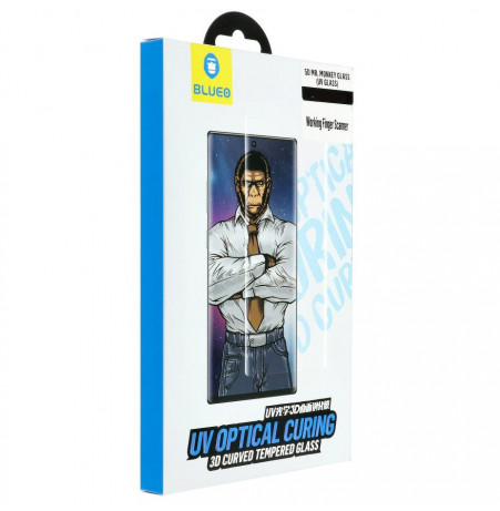 3222 - Blueo Mr Monkey 5D UV стъклен протектор за Samsung Galaxy Note 10
