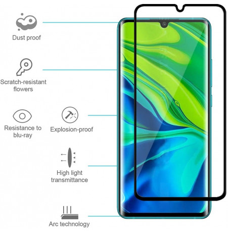 4082 - 3D стъклен протектор за целия дисплей Xiaomi Mi Note 10 / CC9 Pro