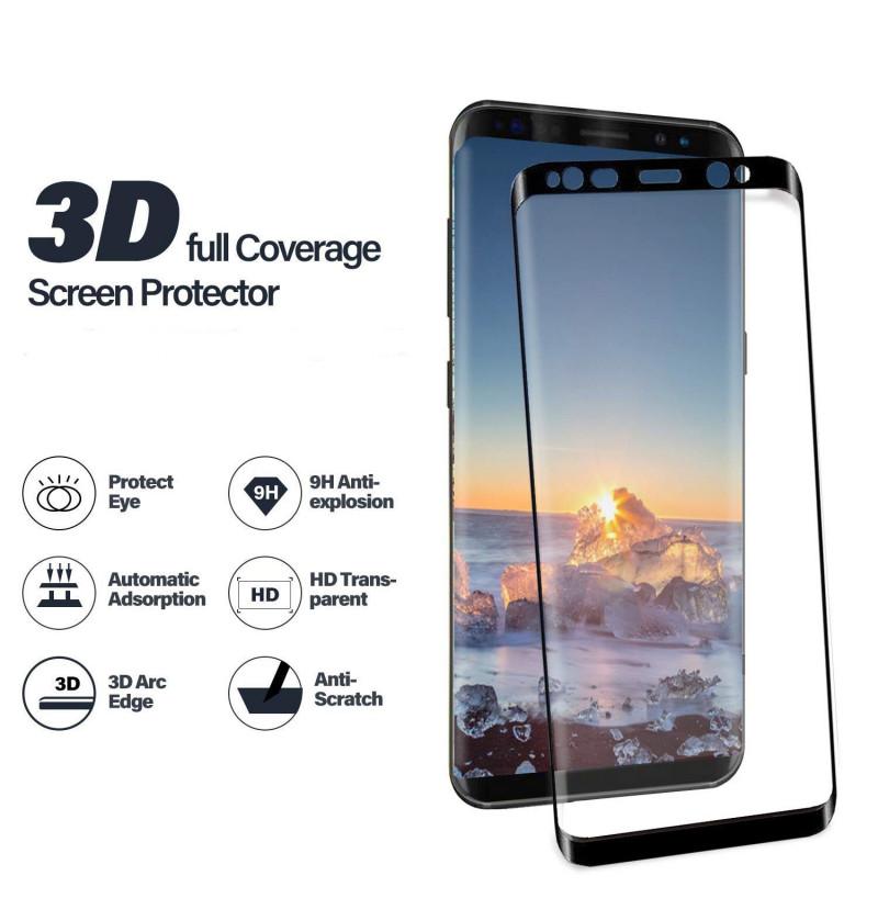 4473 - 3D стъклен протектор за целия дисплей Samsung Galaxy S8