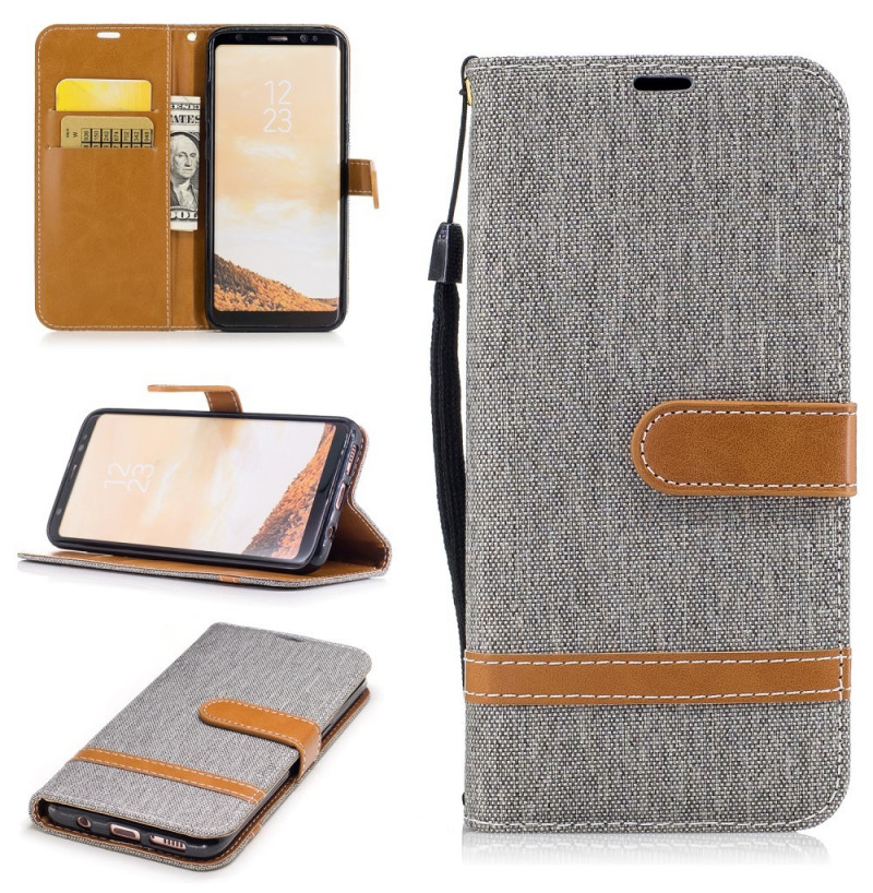 4708 - MadPhone Canvas кожен калъф за Samsung Galaxy S8
