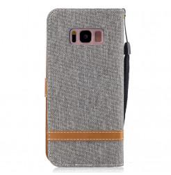 4709 - MadPhone Canvas кожен калъф за Samsung Galaxy S8