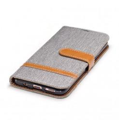 4711 - MadPhone Canvas кожен калъф за Samsung Galaxy S8