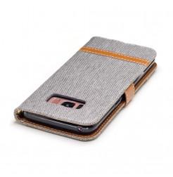 4712 - MadPhone Canvas кожен калъф за Samsung Galaxy S8