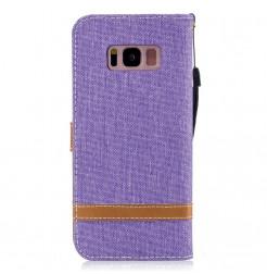 4718 - MadPhone Canvas кожен калъф за Samsung Galaxy S8