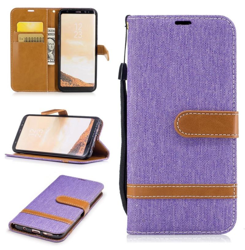 4719 - MadPhone Canvas кожен калъф за Samsung Galaxy S8