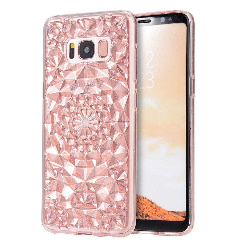 4876 - MadPhone Diamond силиконов кейс калъф за Samsung Galaxy S8+ Plus
