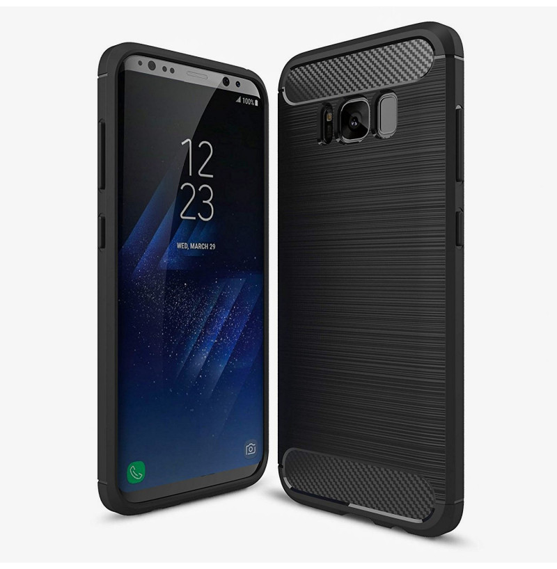 4901 - MadPhone Carbon силиконов кейс за Samsung Galaxy S8+ Plus