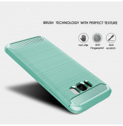 4915 - MadPhone Carbon силиконов кейс за Samsung Galaxy S8+ Plus