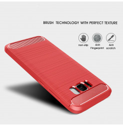 4925 - MadPhone Carbon силиконов кейс за Samsung Galaxy S8+ Plus