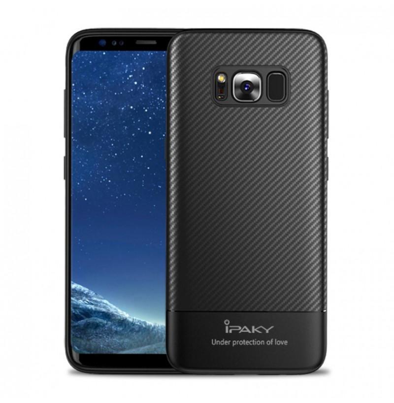 4930 - iPaky Carbon силиконов кейс калъф за Samsung Galaxy S8+ Plus