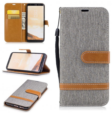 5035 - MadPhone Canvas кожен калъф за Samsung Galaxy S8+ Plus
