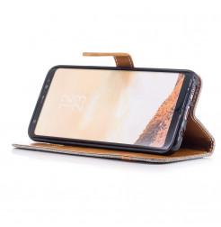 5036 - MadPhone Canvas кожен калъф за Samsung Galaxy S8+ Plus