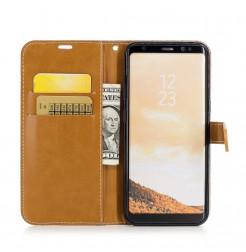 5039 - MadPhone Canvas кожен калъф за Samsung Galaxy S8+ Plus