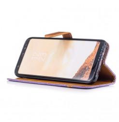 5047 - MadPhone Canvas кожен калъф за Samsung Galaxy S8+ Plus