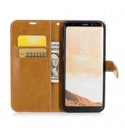 5049 - MadPhone Canvas кожен калъф за Samsung Galaxy S8+ Plus