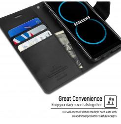 5059 - Mercury Goospery Bravo кожен калъф за Samsung Galaxy S8+ Plus