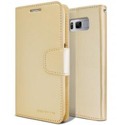 5065 - Mercury Goospery Bravo кожен калъф за Samsung Galaxy S8+ Plus