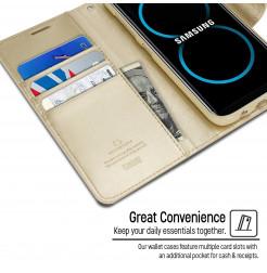 5068 - Mercury Goospery Bravo кожен калъф за Samsung Galaxy S8+ Plus