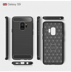 5284 - MadPhone Carbon силиконов кейс за Samsung Galaxy S9