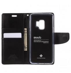 5393 - Mercury Goospery Bravo кожен калъф за Samsung Galaxy S9
