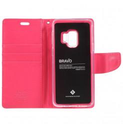 5403 - Mercury Goospery Bravo кожен калъф за Samsung Galaxy S9