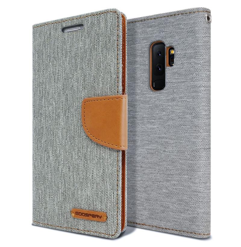 5863 - Mercury Goospery Canvas текстилен калъф за Samsung Galaxy S9+ Plus