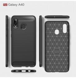 606 - MadPhone Carbon силиконов кейс за Samsung Galaxy A40