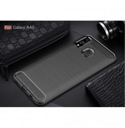 608 - MadPhone Carbon силиконов кейс за Samsung Galaxy A40
