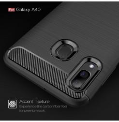 609 - MadPhone Carbon силиконов кейс за Samsung Galaxy A40