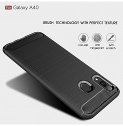 610 - MadPhone Carbon силиконов кейс за Samsung Galaxy A40
