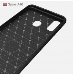 611 - MadPhone Carbon силиконов кейс за Samsung Galaxy A40